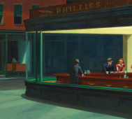 Edward Hopper<br/>&#8216;Nighthawks&#8217;