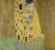 Gustav Klimt<br/>&#8216;The Kiss&#8217;