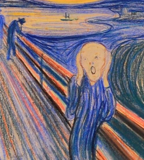 Edvard Munch's 'The Scream' | wertical