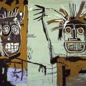 Wertical_Jean-Michel Basquiat, Untitled (Two Heads on Gold), 1982