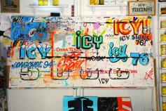 Wertical-ICY Signs - Studio, Brooklyn, 2013